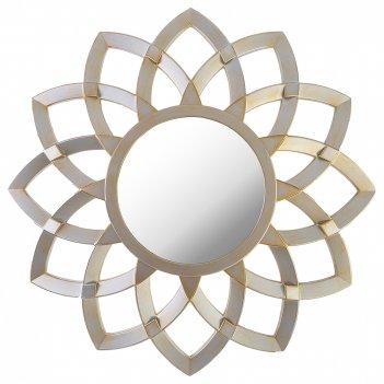 Зеркало настенное swiss home диаметр=76 см цвет: серебро (кор=4шт.)