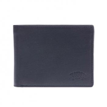 Бумажник klondike dawson, натуральная кожа в черном цвете, 12,5 х 2,5 х 9,
