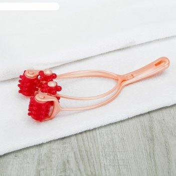 Массажёр «четыре колеса», цвет оранжевый/красный