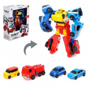 Набор роботов мегабот, собирается из четырёх трансформеров