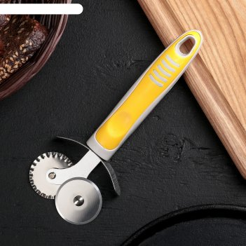 Нож для пиццы и теста, 2 лезвия бистро микс 18 см