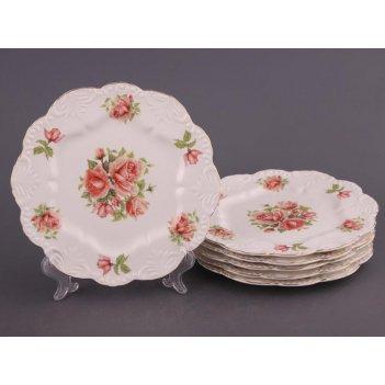 Набор тарелок из 6 шт. жаклин диаметр=21 см (кор...