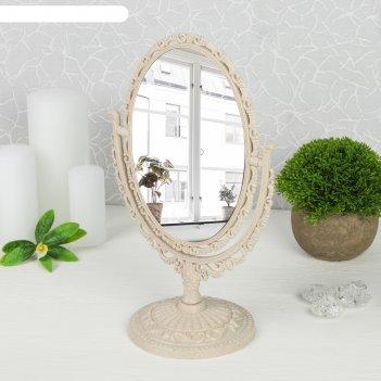 Зеркало настольное «ажур», с увеличением, зеркальная поверхность — 10,8 x