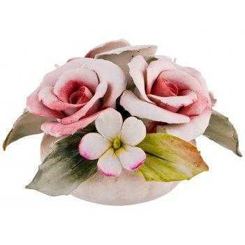 Декоративное изделие розы 10*8 см. высота=7 см.