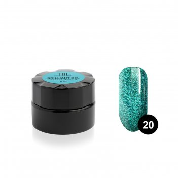 Гель для ногтей tnl «жидкая фольга» №20 изумрудный луч, 5 мл