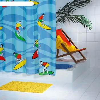 Штора для ванных комнат maui, цветная, 180x200 см