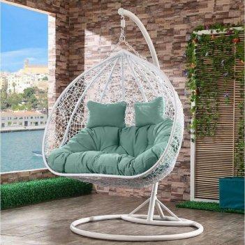 Подвесное кресло cocoon chair 109 white, садовая мебель