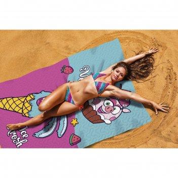 Пляжное покрывало «сладкий лед», размер 145 x 200 см