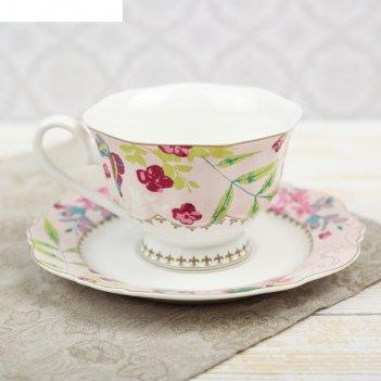 Чайная пара порхание чашка 220 мл, блюдце d-15,5 см