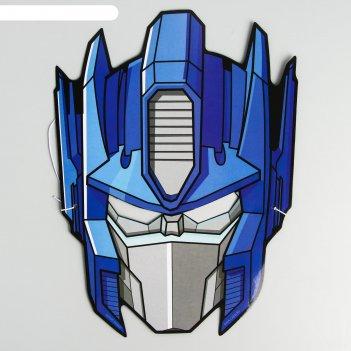 Маска карнавальная оптимус прайм, transformers, 17,2 х 22 см