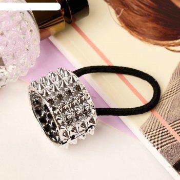 Резинка для волос модная штучка глянец рельеф (цвет микс)