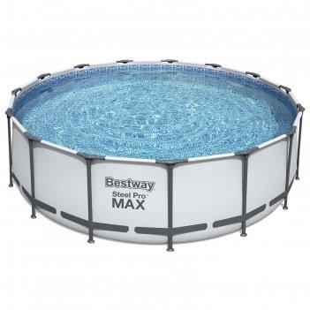 Бассейн каркасный steel pro max, 457 х 122 см, фильтр-насос, лестница, тен