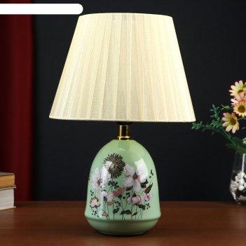 Настольная лампа 32034/1 e27 40вт салатовый 25х25х36 см