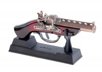 Сувенирное оружие, пистолет - зажигалка пьезо, дуло резное