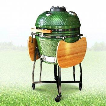 Керамический гриль st grill 22 green для дачи