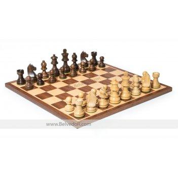 Шахматы классические, фигуры самшит и палисандр, король 7,6см