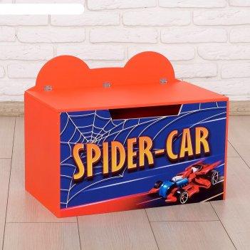 Контейнер-сундук с крышкой spider-car красный