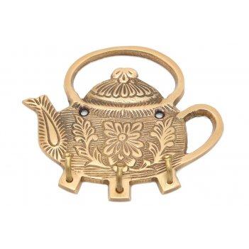 Вешалка-крючок чайник латунь (антик) 2шт/упак.