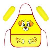Набор детский для творчества collorista щенок, фартук + нарукавники, 45х49
