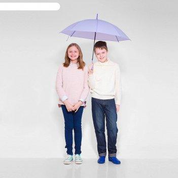 Зонт детский полуавтоматический однотонный, r=41см, цвет сиреневый