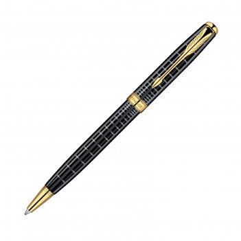 Ручка шариковая parker sonnet k531 (s0912470) dark grey gt (m) чернила: че