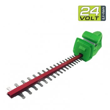 Кусторез аккумуляторный 47 см greenworks 24v g24ht, садовая техника