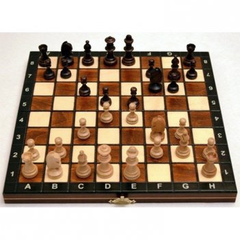 Шахматы магнитные польша 27х27см король 5см