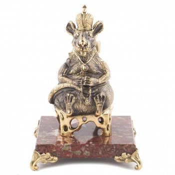 Сувенир крыса-король креноид бронза 85х85х175 мм 450 гр.