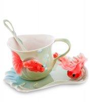 Fm-01/30 чайная пара золотые рыбки (pavone)