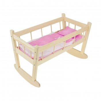 Кукольная кроватка-качалка 11, цвета микс
