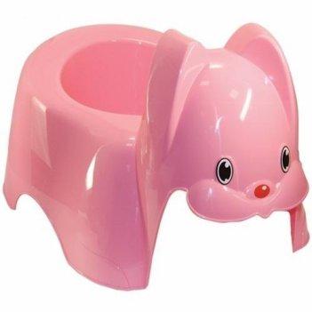 Детский розовый горшок зайка 2594