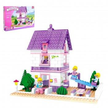 Конструктор страна чудес дом с площадкой, 366 деталей