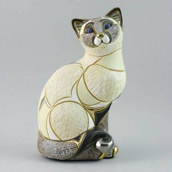 dr-1016 статуэтка сиамская кошка