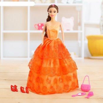 Кукла модель лида в платье, с аксессуарами  микс
