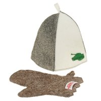 Набор банный танкист (шапка, рукавица)