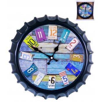 Часы настенные круглые home art «штурвал темный» 30,2 см