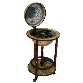 Глобус бар сокровища древнего мира напольный d=33см, 44*44*8