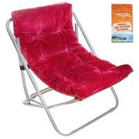 Кресло складное briz 60x64x74 см, цвет: бордовый