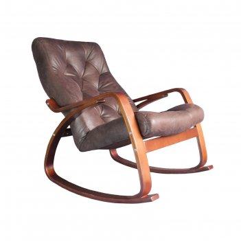 Кресло-качалка «гранд», искусственная замша, 1020 x 660 x 920 мм, цвет шок