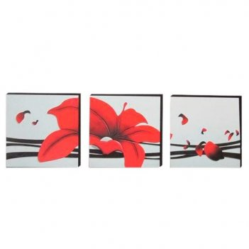 Панно модульное цветы, 180х60 см