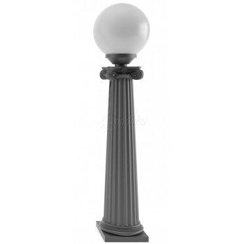 Столбик чугунный «ампир» со светильником стационарный