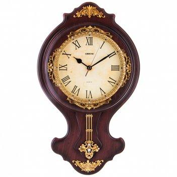 Часы настенные кварцевые с маятником 43*5,5*43 см. диаметр циферблата=19 с