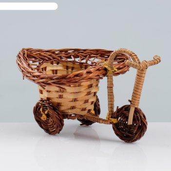 Сувенир «велосипед», 10x15x7 см, ива