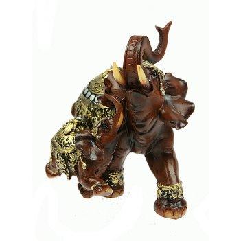 Фигурка декоративная слоны 17*10*15см (уп.1/12шт.)