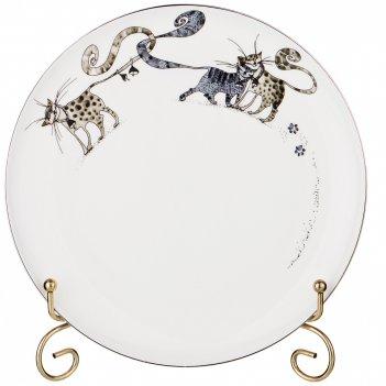 Тарелка десертная котики, диаметр 21 см.