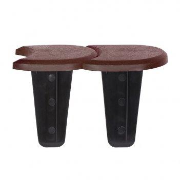 Ограждение для клумбы prosperplast palisada, 3,8м, коричневый