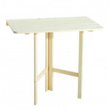 Стол пристенный, откидывающийся, 80х74х45см, квадратный, сосна