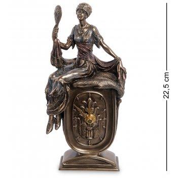 Ws-972 статуэтка-часы девушка с зеркалом