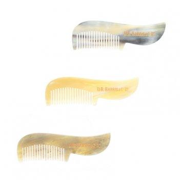 Расческа для усов d. r. harris, натуральный рог