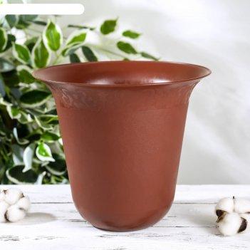Горшок для цветов 3,5 л, коричневый